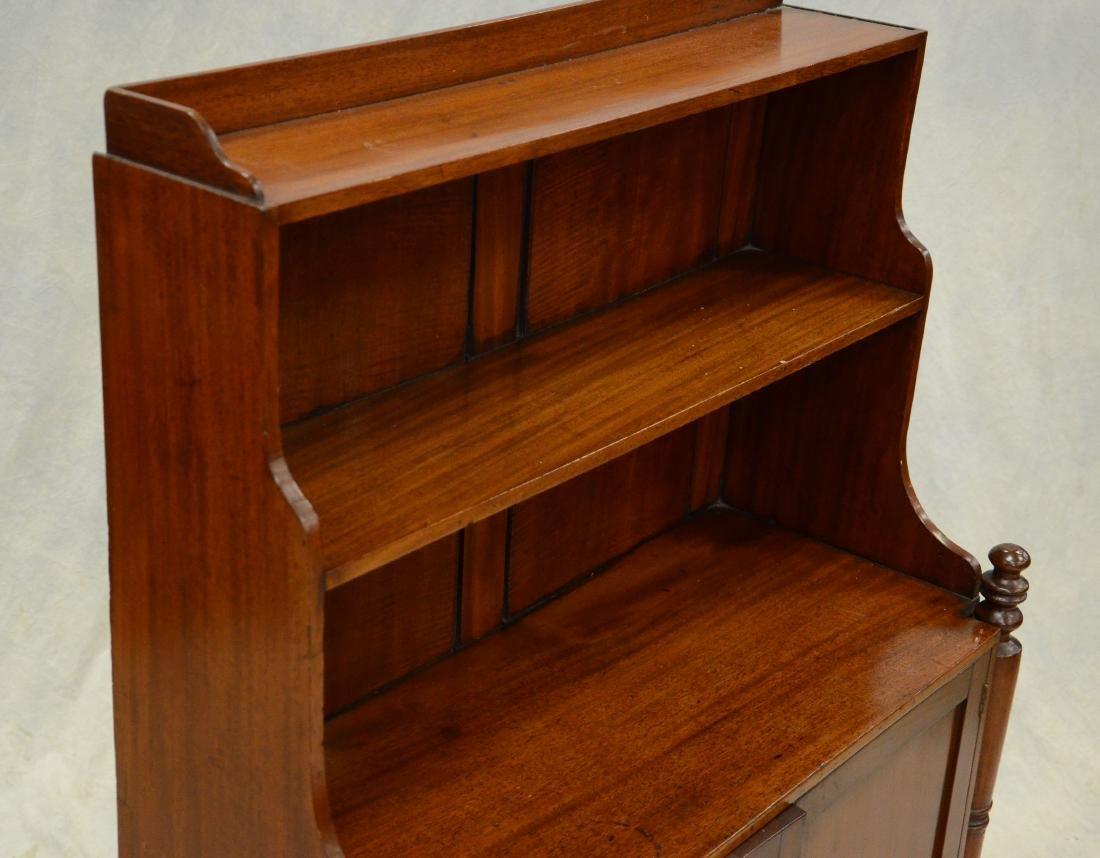 Mahogany Regency miniature stepback cupboard, c 1820 - 2