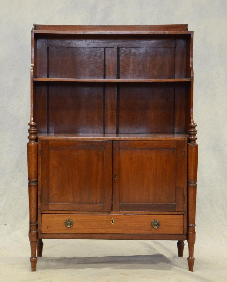 Mahogany Regency miniature stepback cupboard, c 1820 - 3