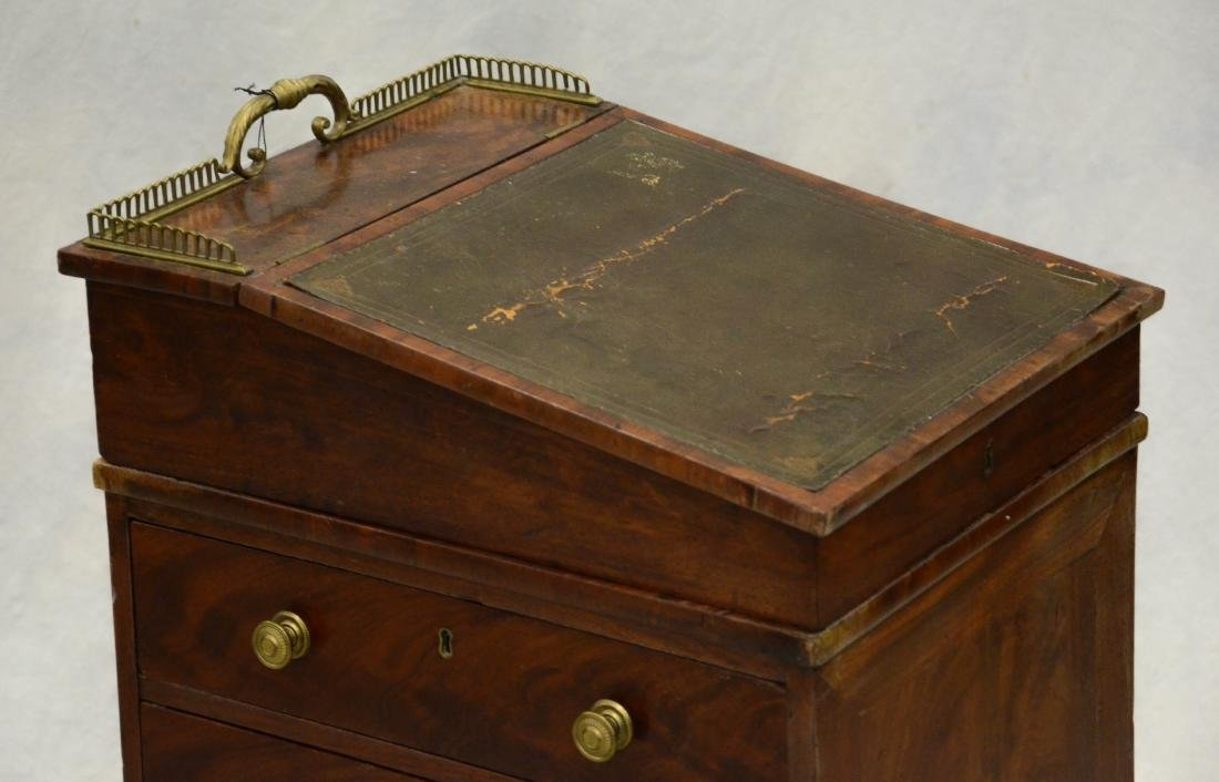 Mahogany Regency leathertop davenport desk, c 1830-5 - 2