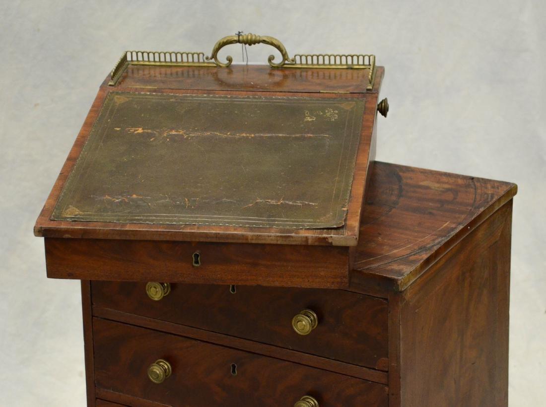 Mahogany Regency leathertop davenport desk, c 1830-5 - 3