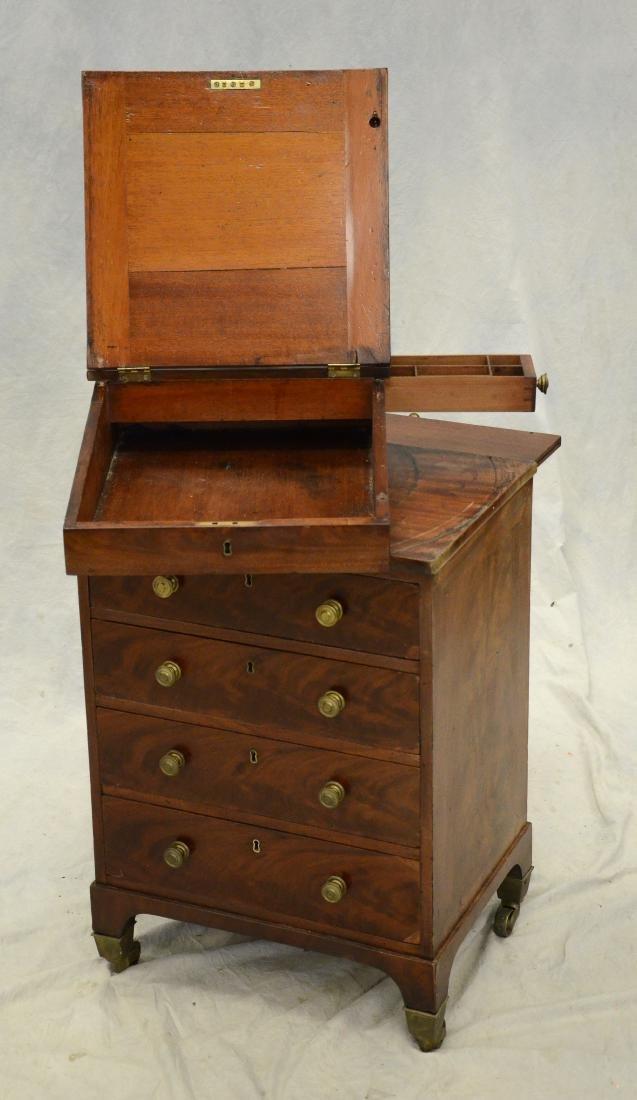 Mahogany Regency leathertop davenport desk, c 1830-5 - 4