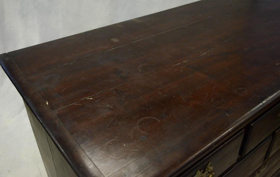 Walnut Chippendale chest on frame top, c 1760-80 - 3
