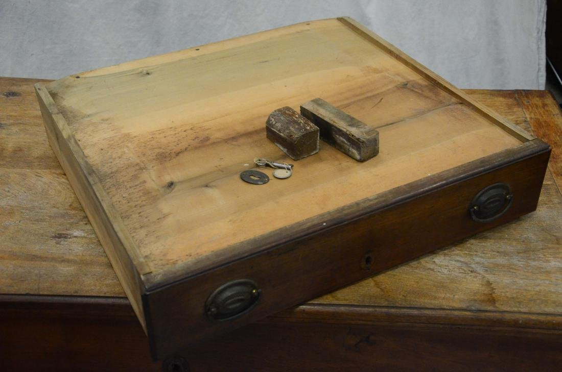 Walnut Chippendale 2 drawer blanket chest, c 1780 - 5