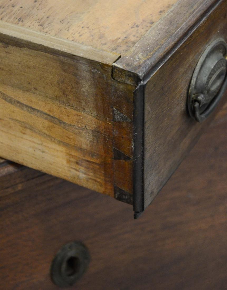Walnut Chippendale 2 drawer blanket chest, c 1780 - 6