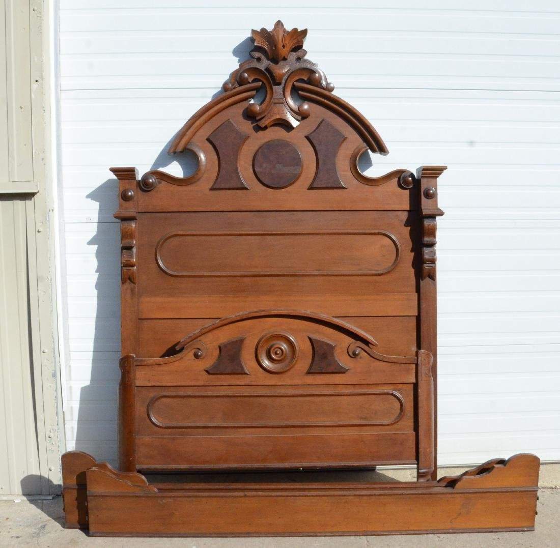 (3) pc walnut  Victorian MT bedroom set - 2