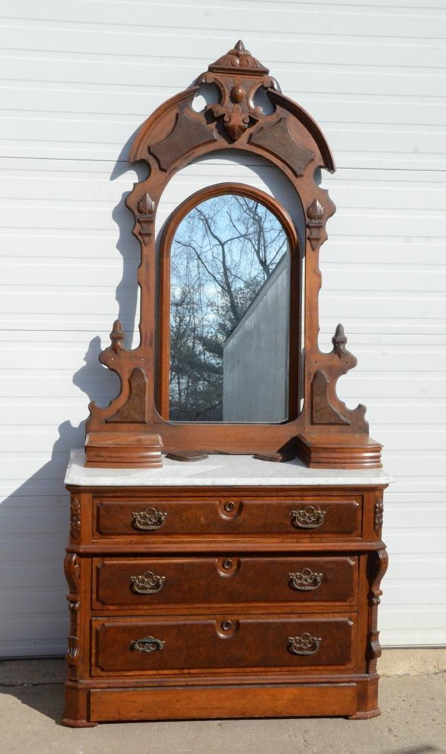 (3) pc walnut  Victorian MT bedroom set - 3