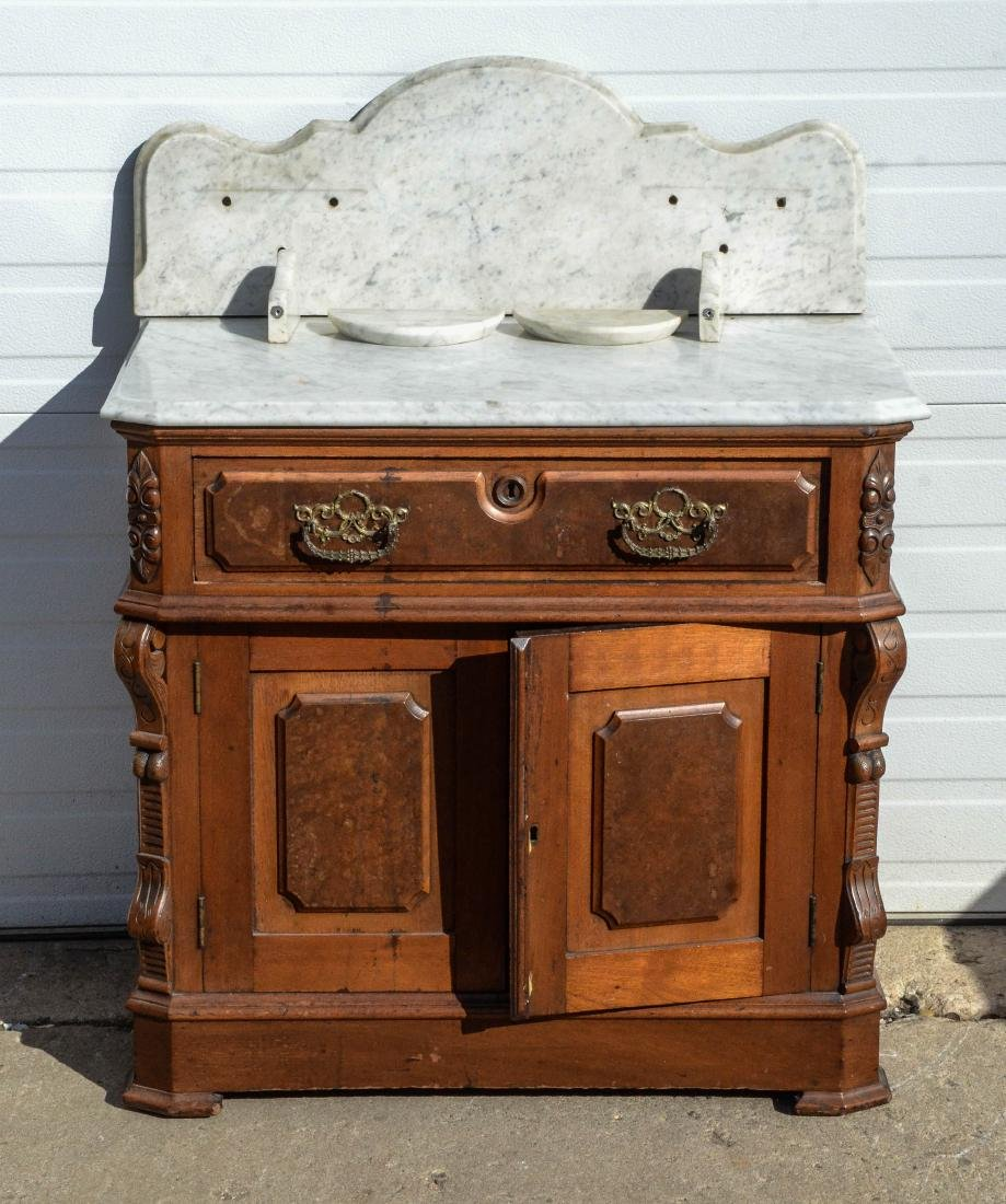 (3) pc walnut  Victorian MT bedroom set - 4