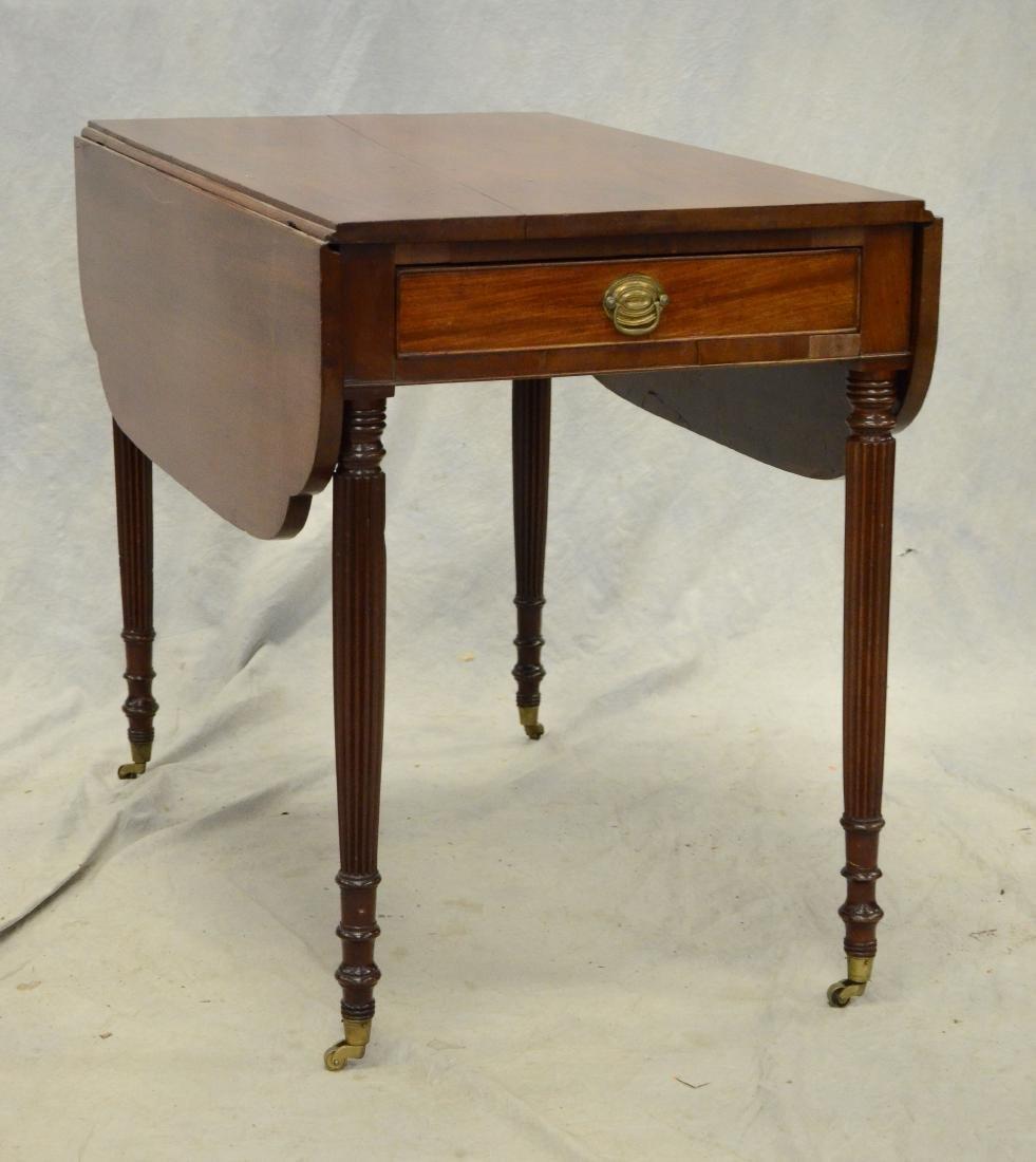 American mahogany Sheraton Pembroke table,19th C