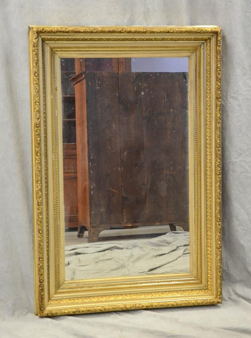 Gilt framed Victorian wall mirror