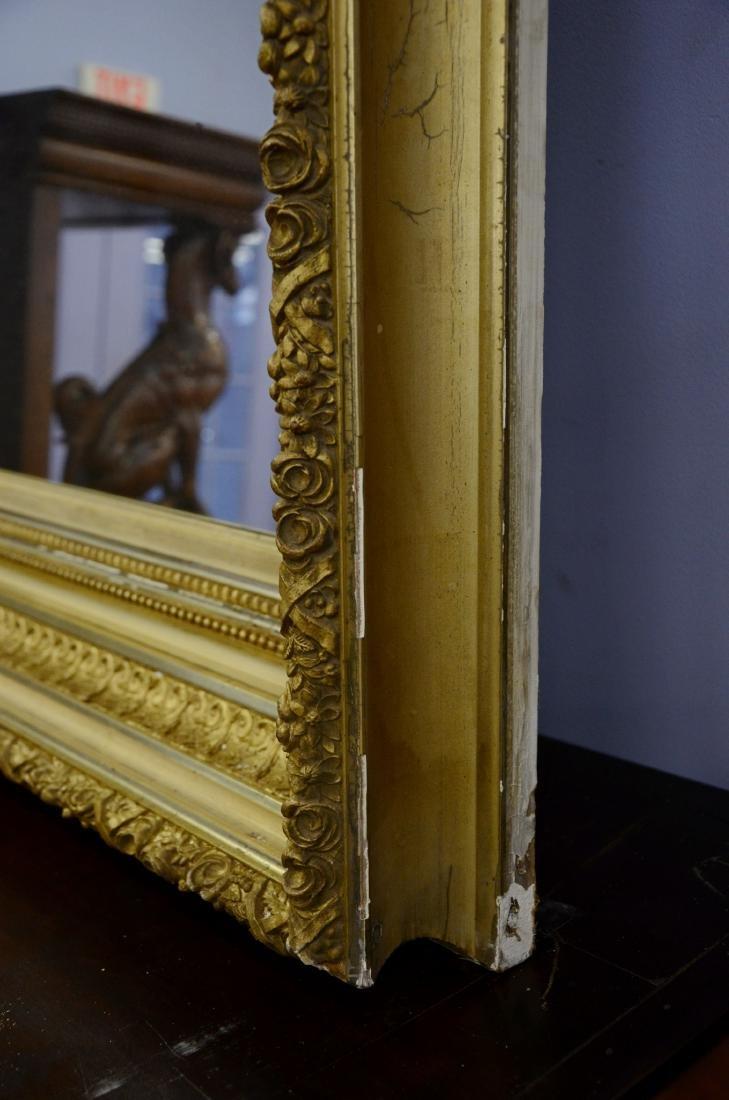 Gilt framed Victorian wall mirror - 2
