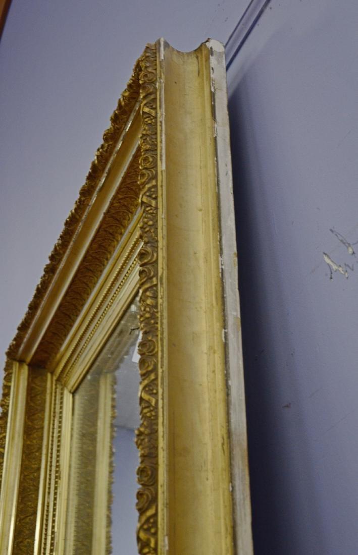 Gilt framed Victorian wall mirror - 3