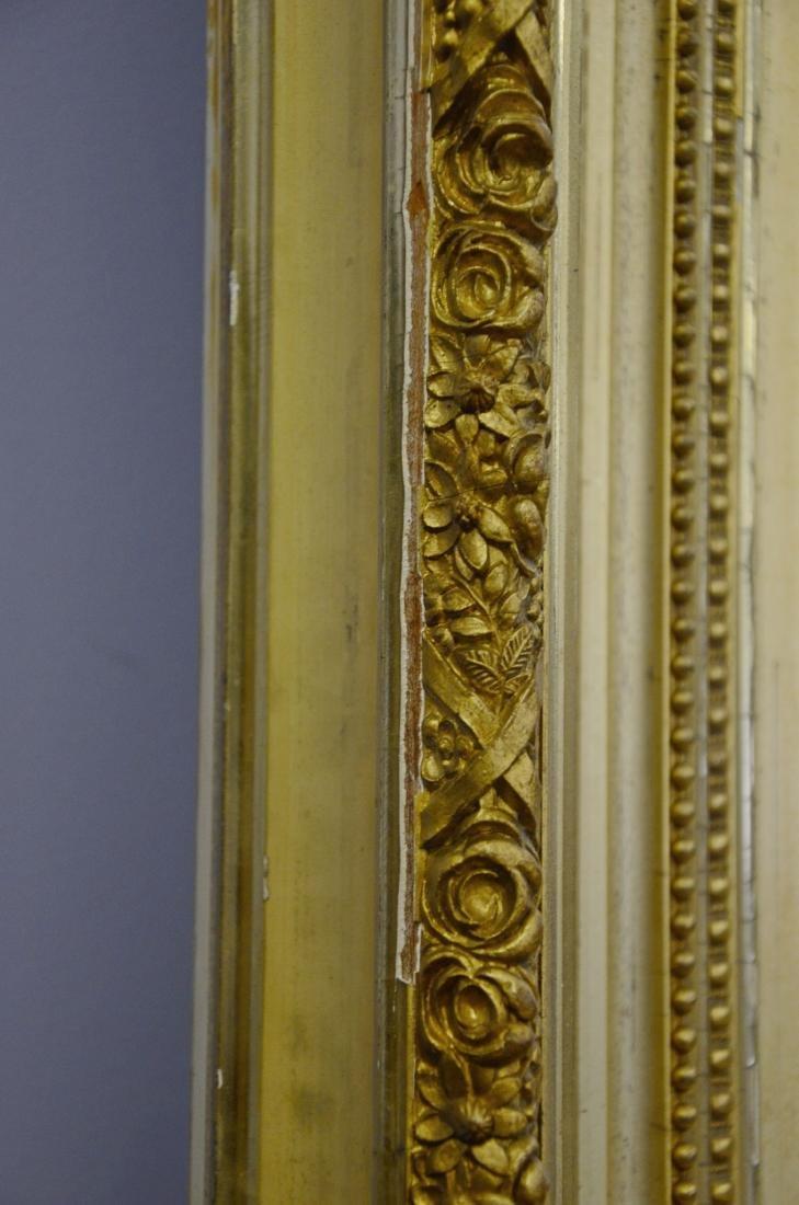Gilt framed Victorian wall mirror - 5