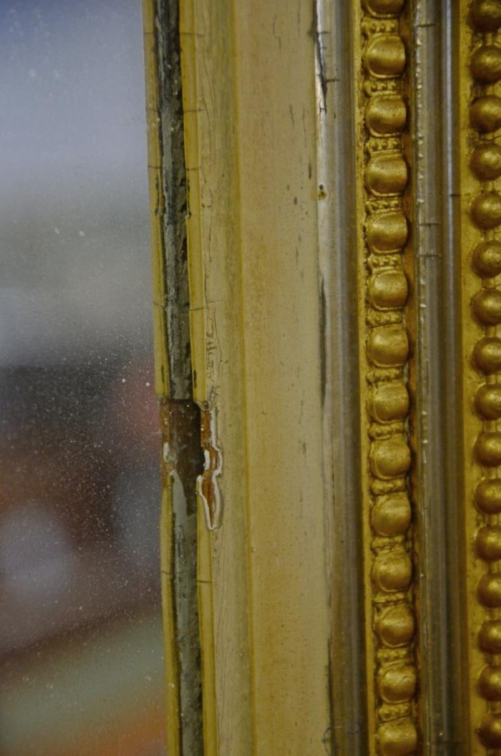 Gilt framed Victorian wall mirror - 6