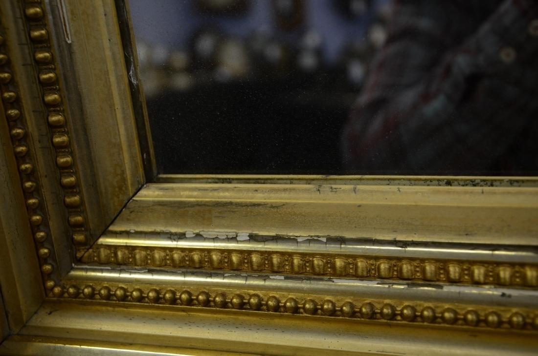 Gilt framed Victorian wall mirror - 7