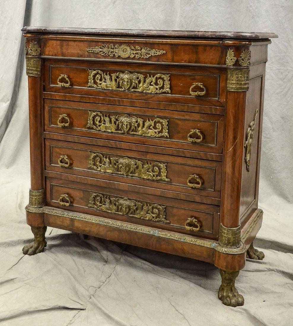 French Empire style 4 drawer mahogany commode