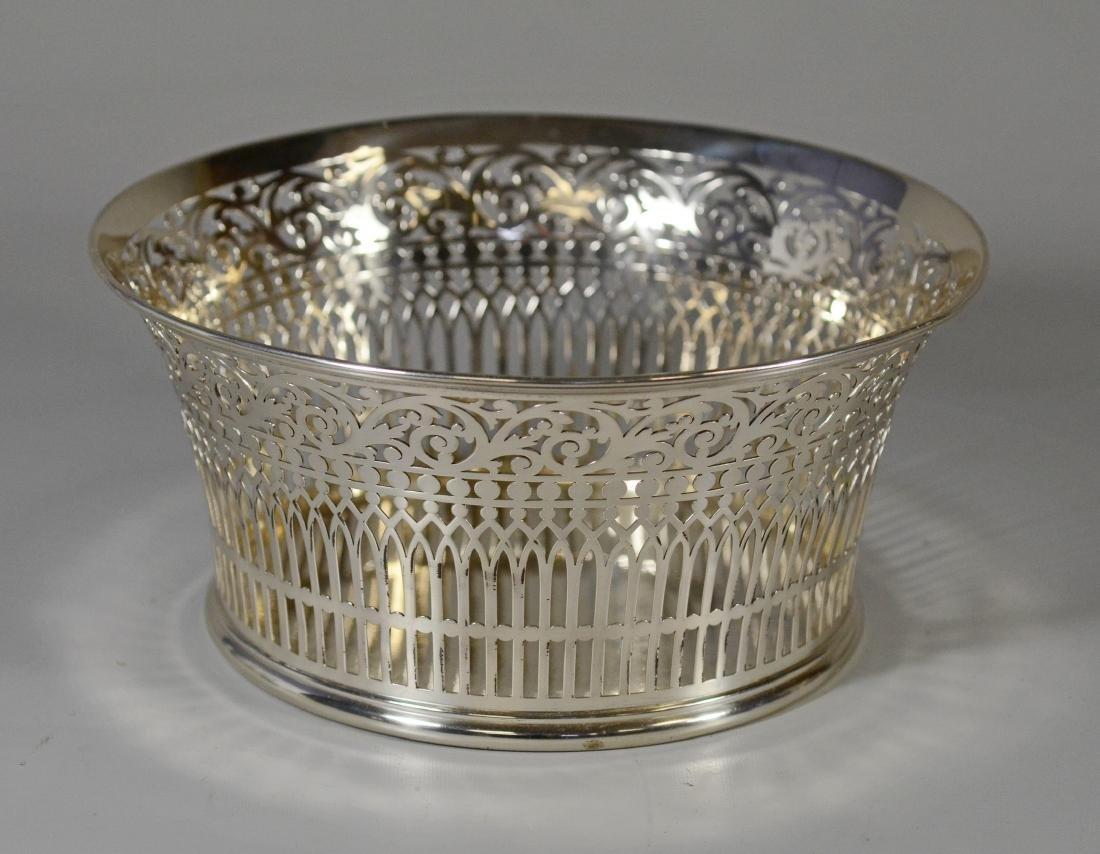 Bigelow Kinnard sterling silver reticulated bowl