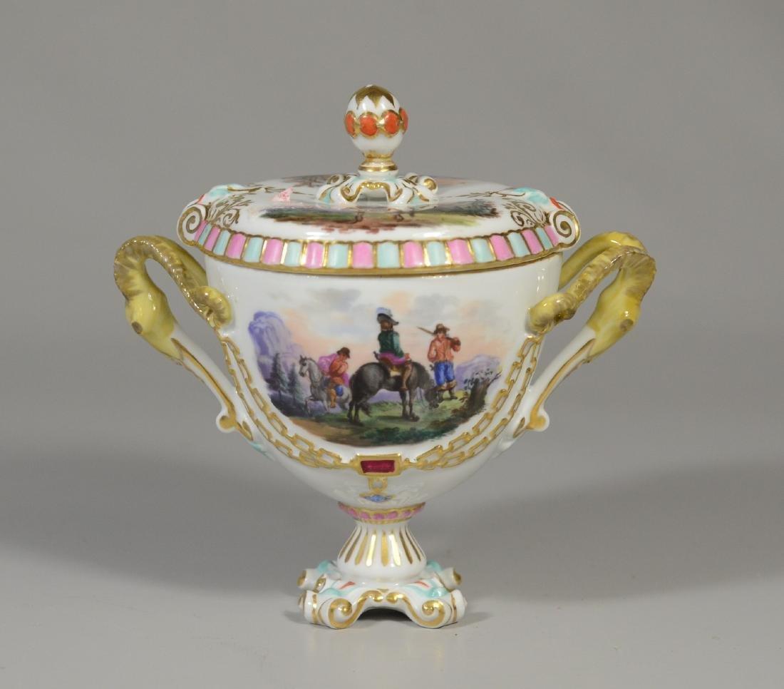 Augustus Rex handpainted German porcelain covered cup