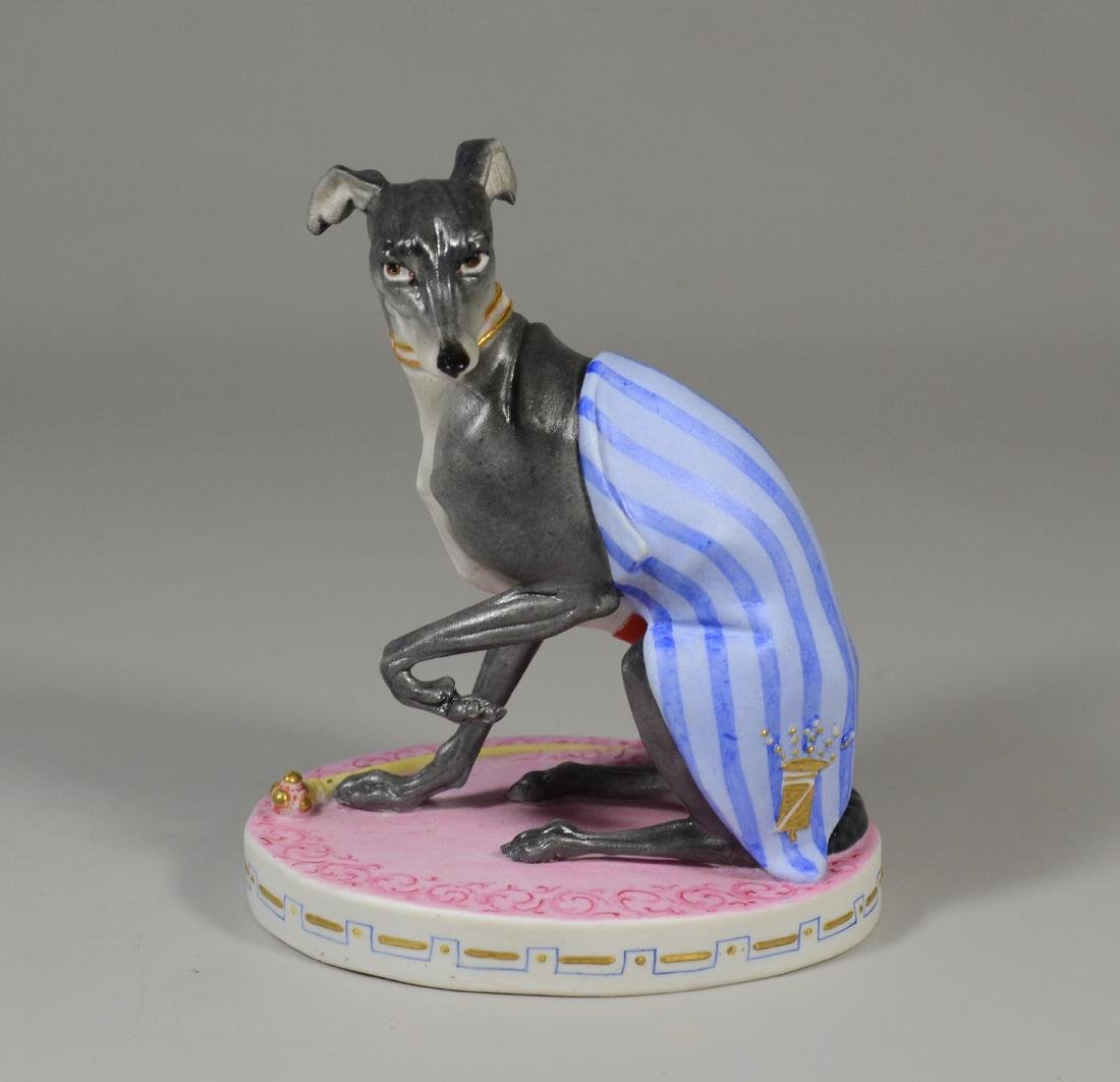 Antique Continental bisque porcelain whippet