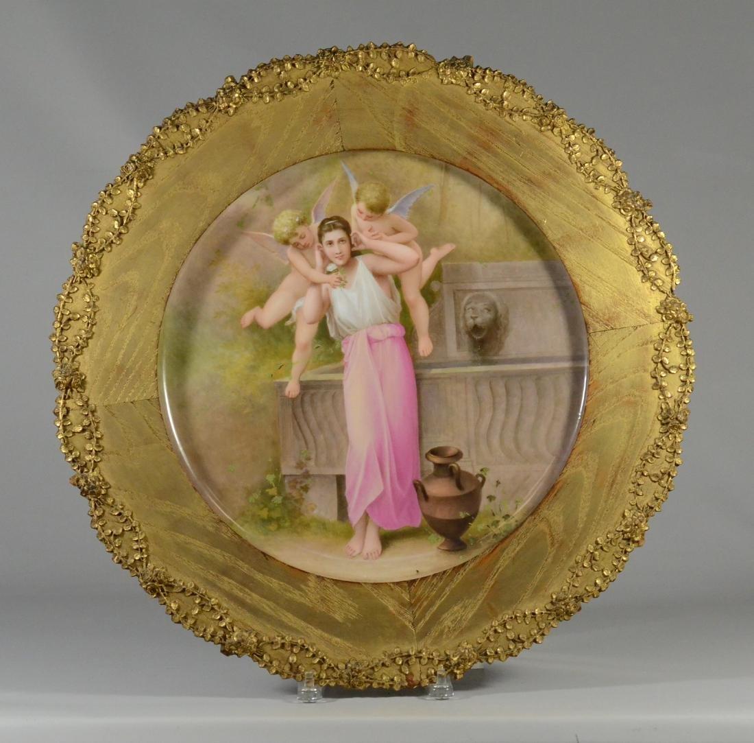 """Painting on porcelain plaque, """"Jeunesse"""""""