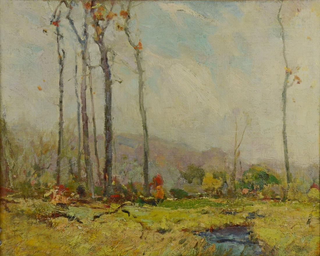 Chauncey Foster Ryder attrib, landscape painting