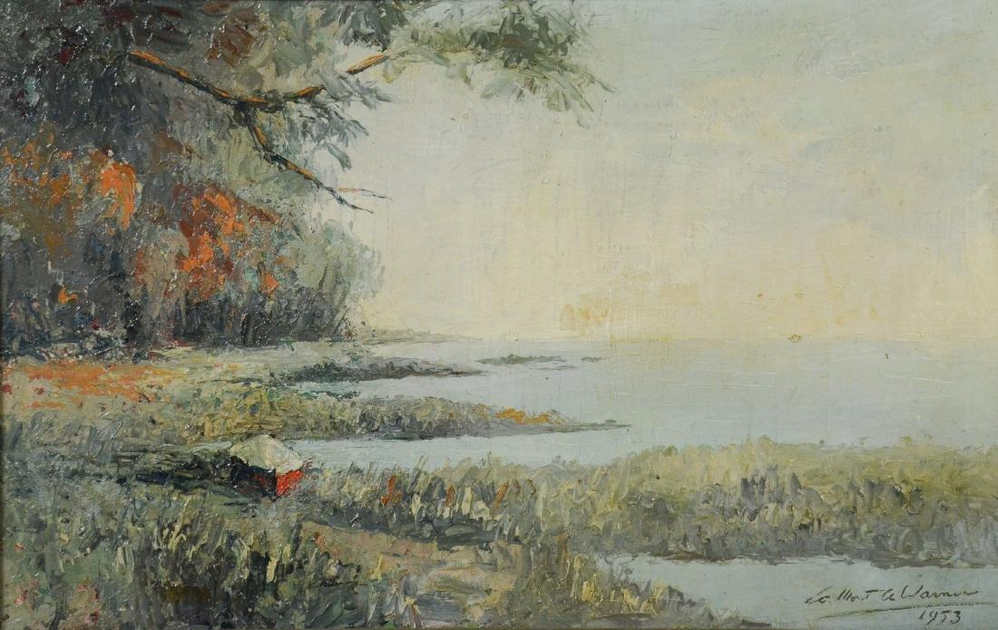 LaMont Adelbert Warner, oil on canvas landscape