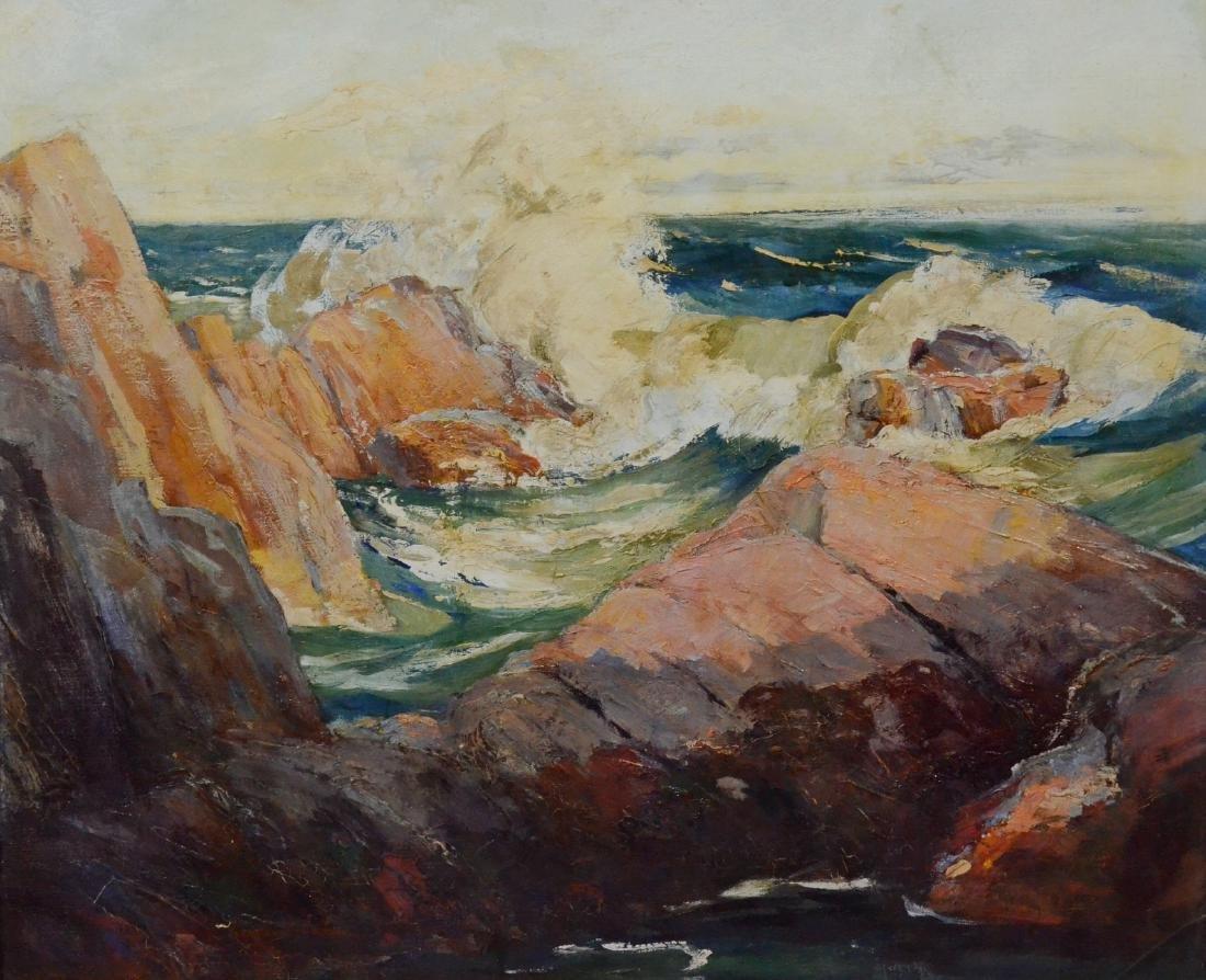 Constance Cochran, oil on canvas coastal seascape