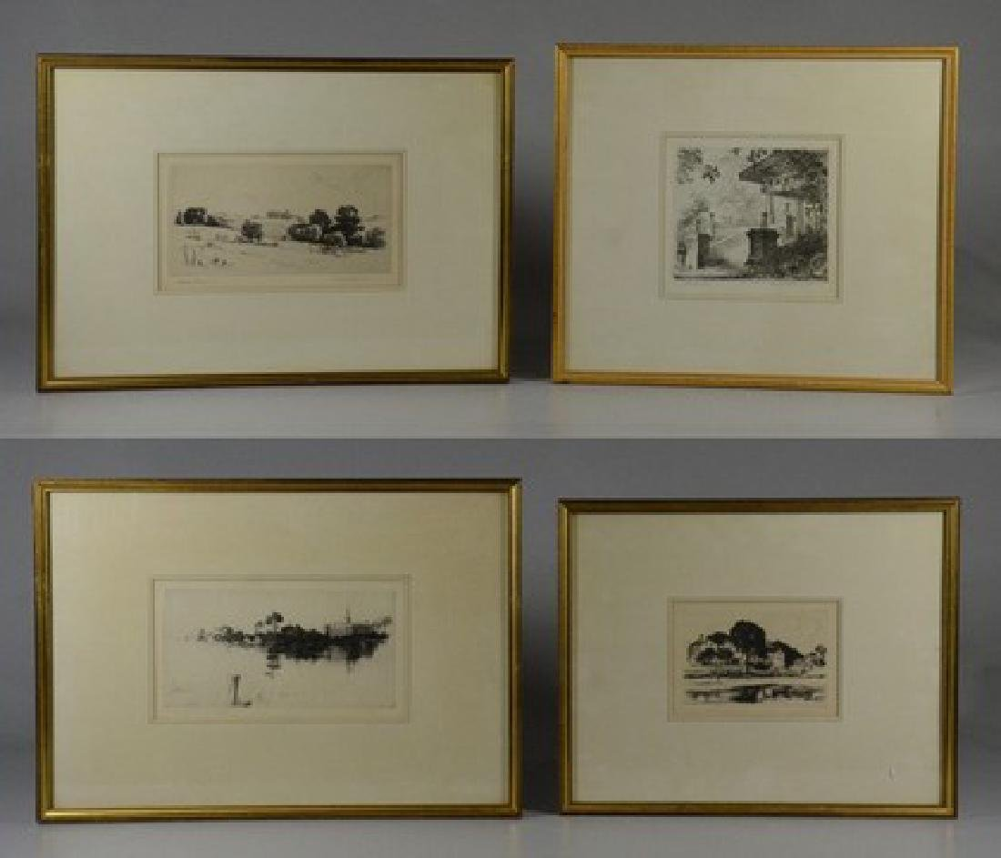 Howard Frech, 4 original etchings,