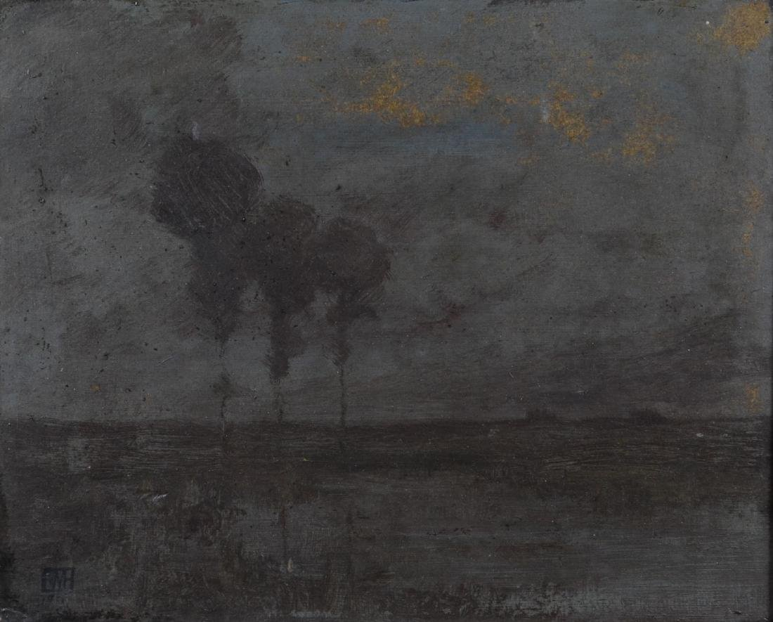 Edward Mack Curtis Hawkins, tonalist landscape painting