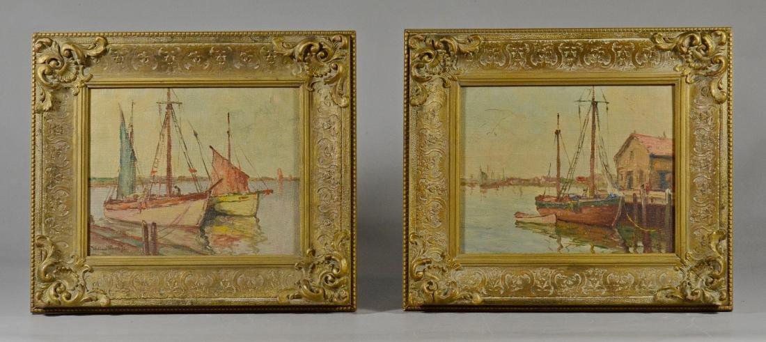 William Ward, Jr, pr of harbor scene paintings