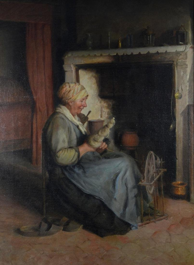 Hendrik Valkenburg attr, oil on canvas interior scene