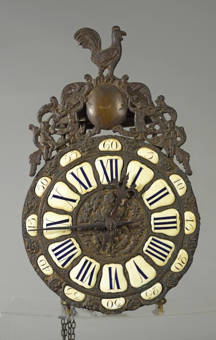 19th c iron and brass lantern clock