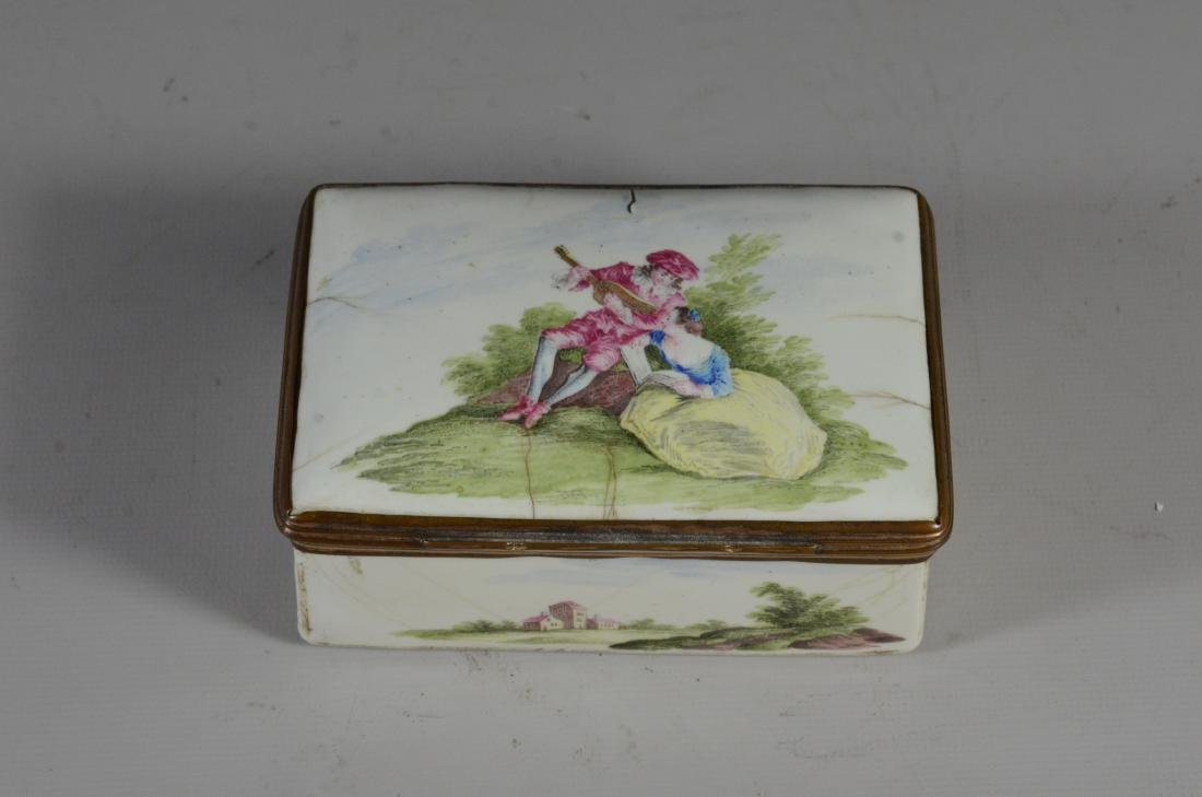 (3) Continental, possibly German, table snuff boxes - 13