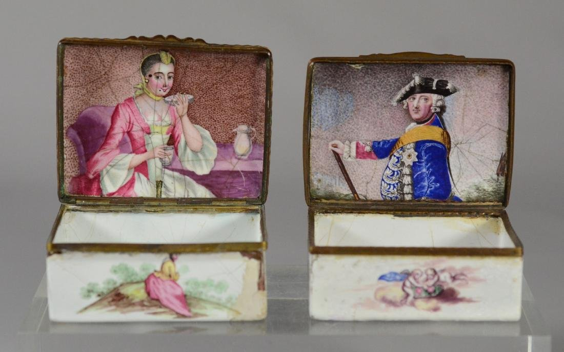 (3) Continental, possibly German, table snuff boxes - 2