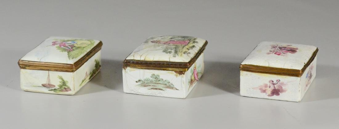 (3) Continental, possibly German, table snuff boxes - 5