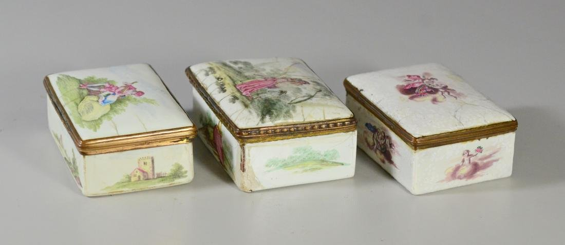 (3) Continental, possibly German, table snuff boxes - 6