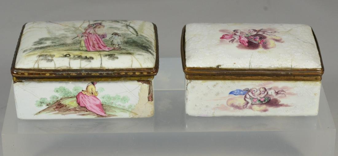 (3) Continental, possibly German, table snuff boxes - 7