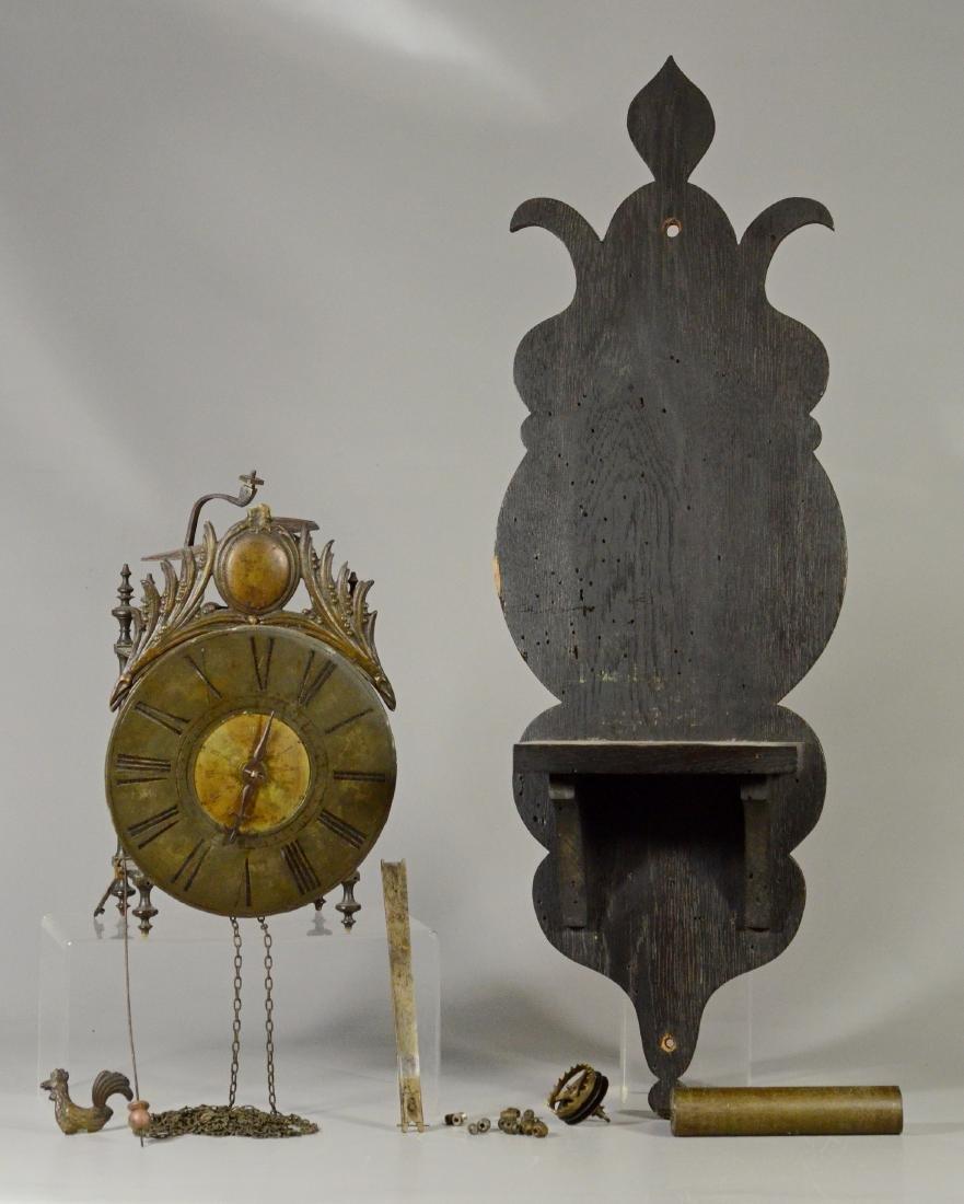 17th/18th C iron and brass lantern clock
