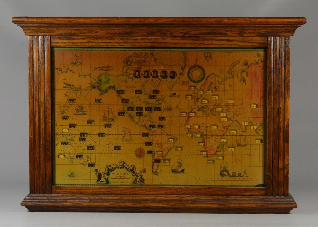 Howard Miller World Time Clock in oak case