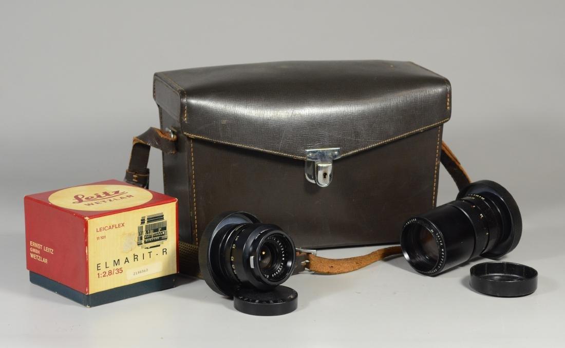 (2) Leica Camera Lens with original carrying case