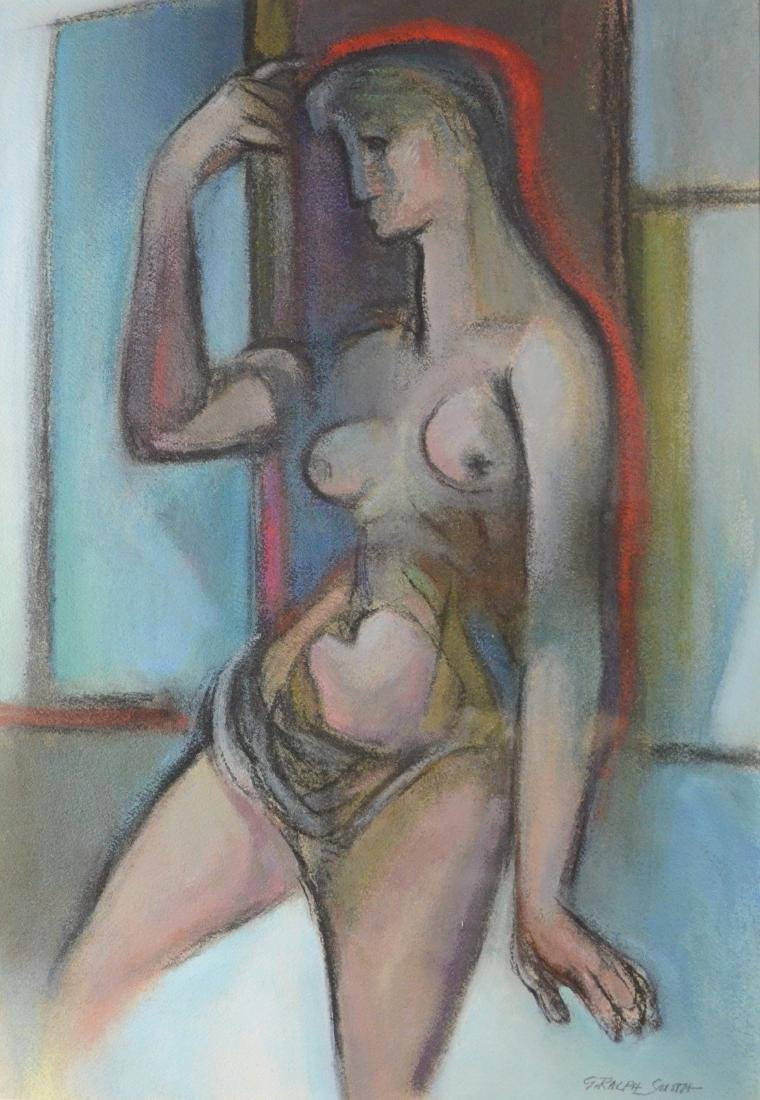 G Ralph Smith painting of female nude