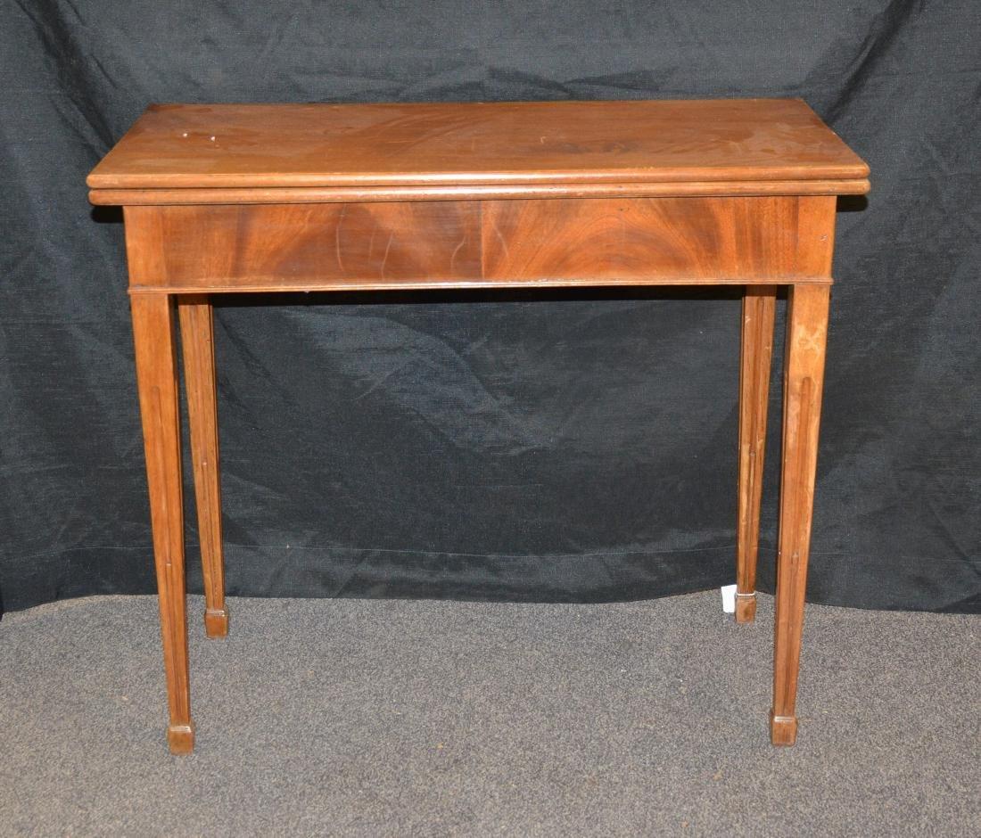 Sheraton style flip top game table, flip top, 29 1/2