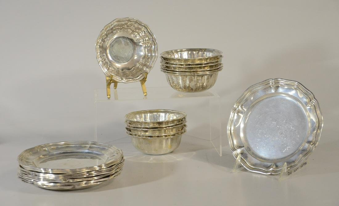 "(24) Pcs Miracoli Milano .800 silver 5"" diameter bow"