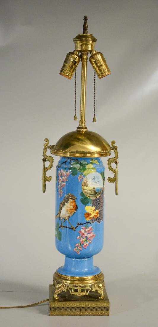 Aesthetic porcelain vase in the manner of Minton mou