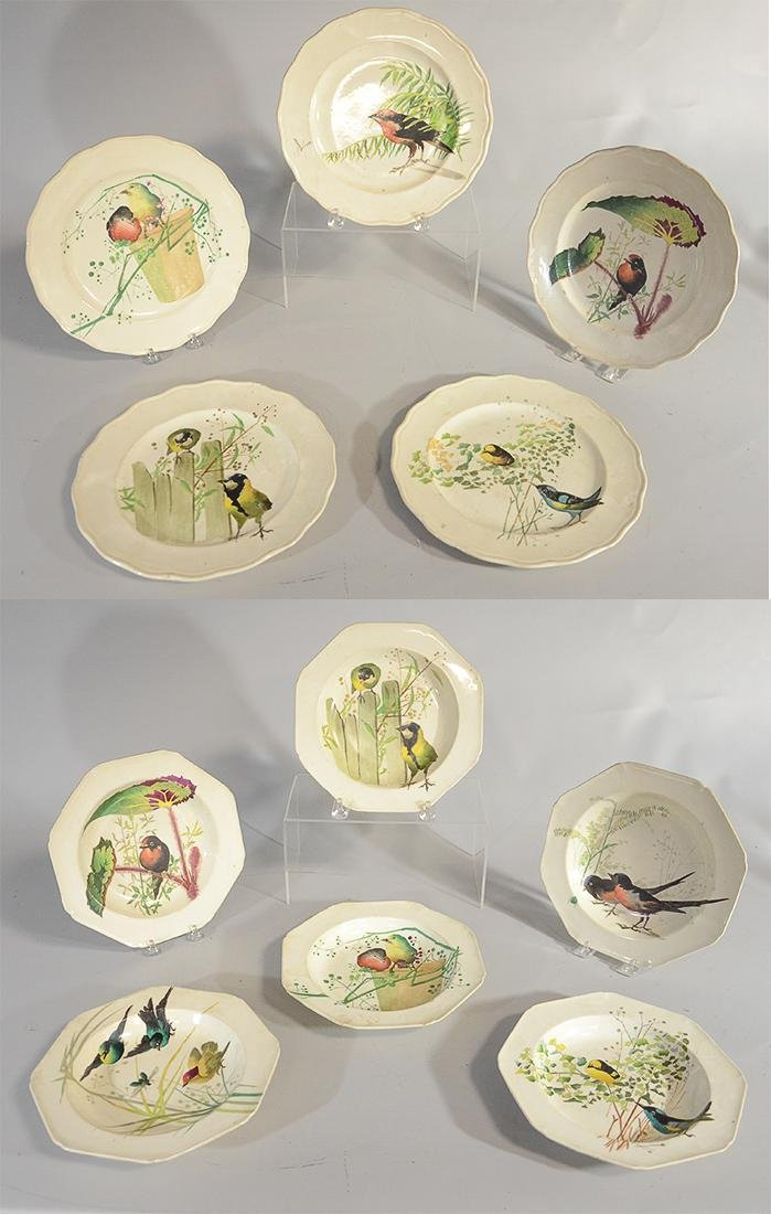 Brown-Westhead, Moore & Co HP bird soup bowls, with
