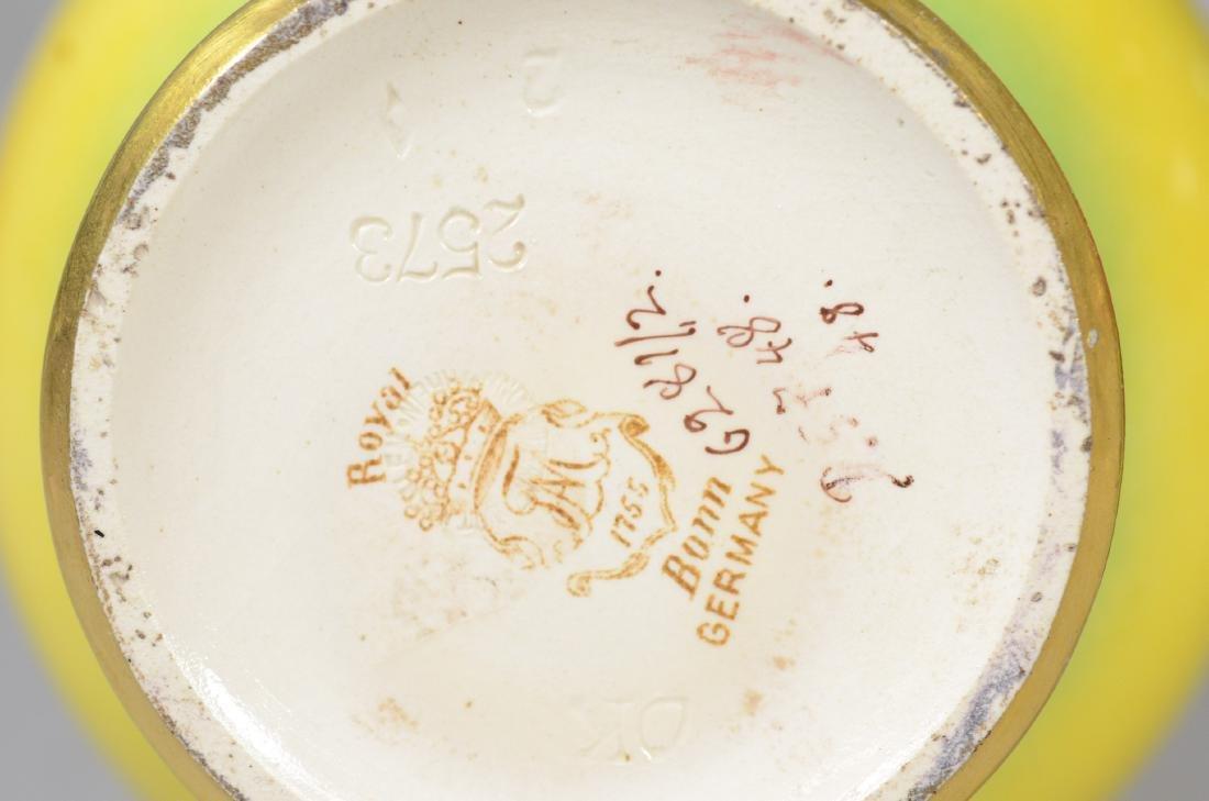 (4) Pcs hand painted porcelain - 2