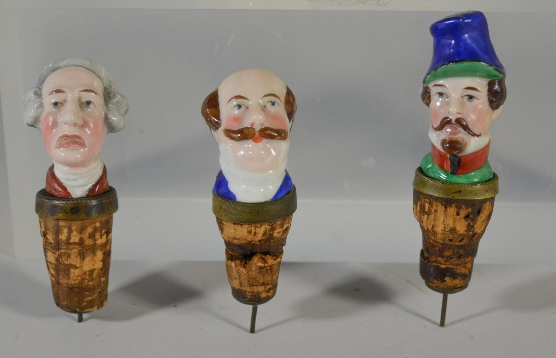 (4) pcs of Meissen and English porcelain stoppers - 2