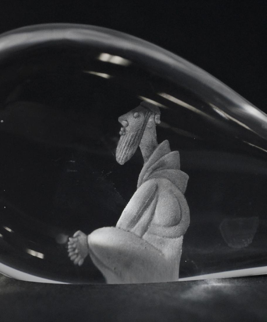 Kosta Lindstrand art glass Jonah and the Whale - 2