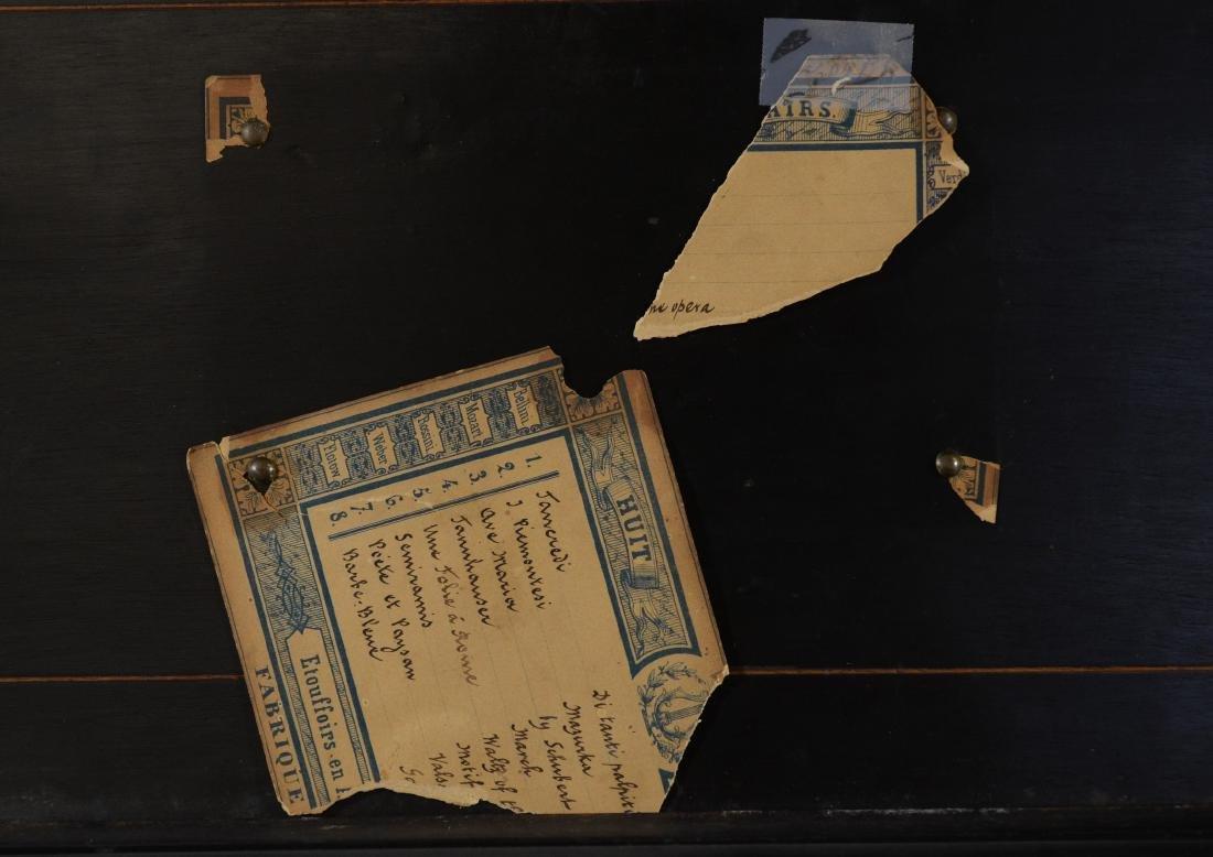 8 tune Etouffoirs En Acier Swiss cylinder music box - 4