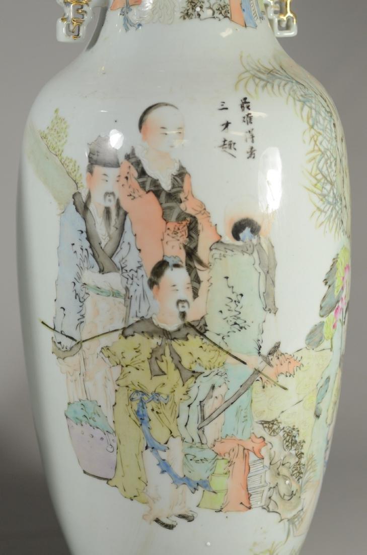 "Pair Republican Qian Jian Vases, 23""h - 2"