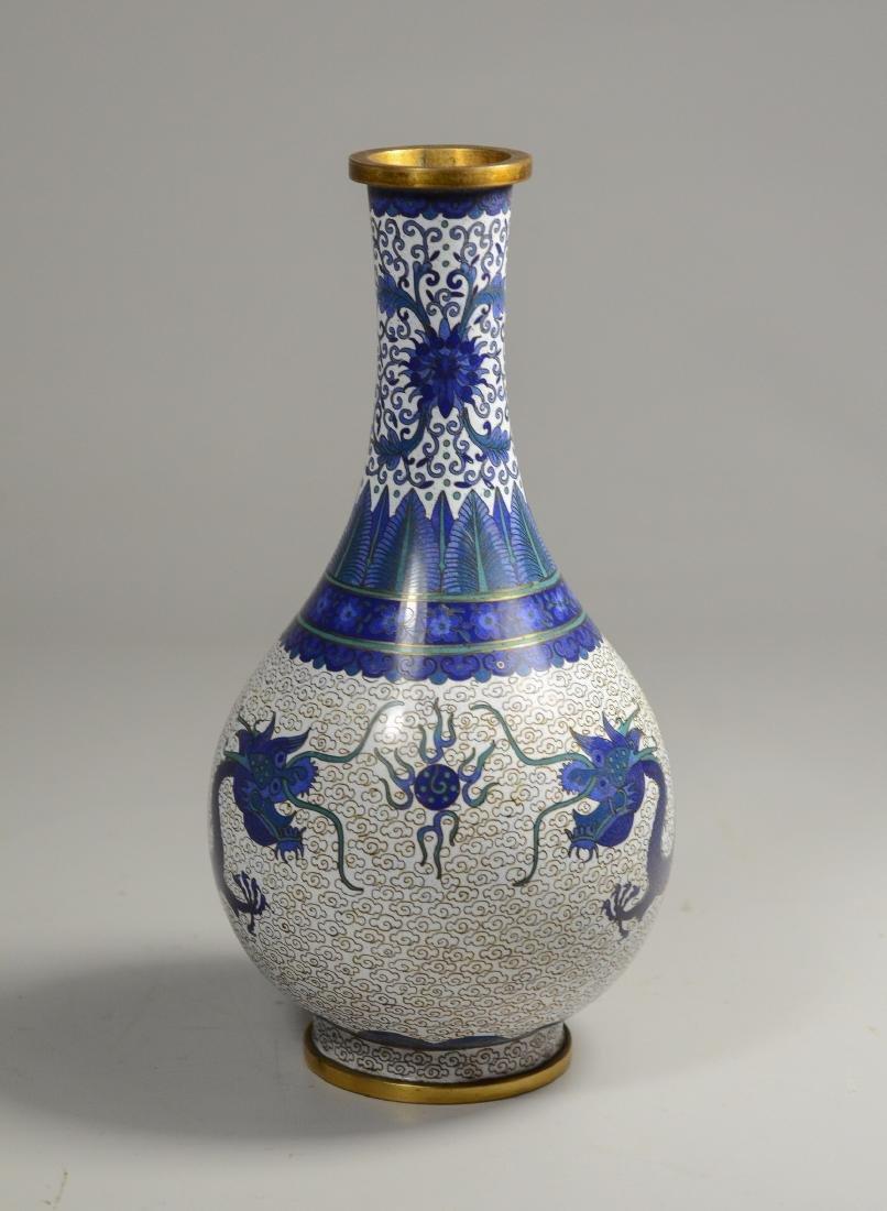 "Chinese Cloissonne dragon vase, 8 1/2""h - 2"